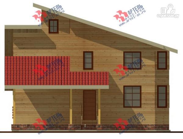Фото 8: проект трёхэтажный дом 11х13 из бруса, с навесом для машины