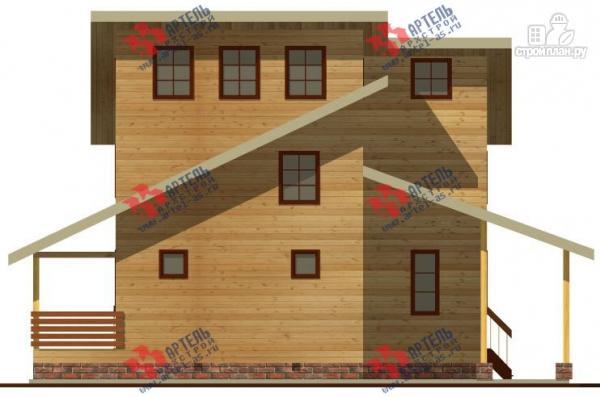 Фото 5: проект трёхэтажный дом 11х13 из бруса, с навесом для машины