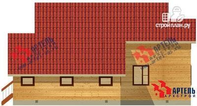 Фото 3: проект дом из бруса, с верандой и гаражом