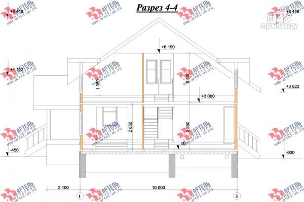 Фото 10: проект деревянный дом 10х11 с сауной и парной