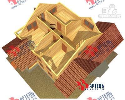 Фото 7: проект деревянный дом 10х11 с сауной и парной