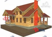 Фото: деревянный дом 10х11 с сауной и парной