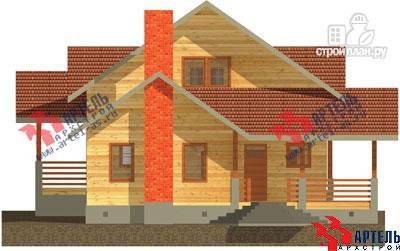 Фото 3: проект деревянный дом 10х11 с сауной и парной