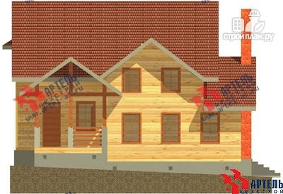 Фото 2: проект деревянный дом 10х11 с сауной и парной