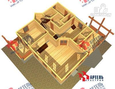 Фото 6: проект деревянный дом 10х11 с сауной и парной