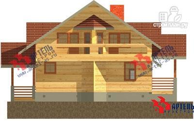 Фото 5: проект деревянный дом 10х11 с сауной и парной