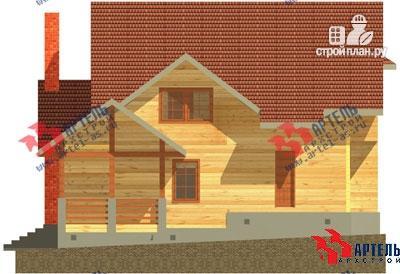 Фото 4: проект деревянный дом 10х11 с сауной и парной