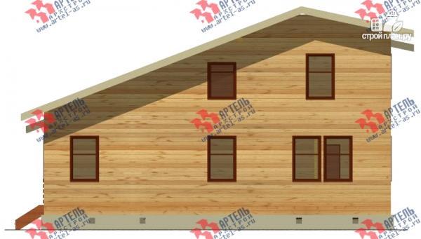 Фото 7: проект просторный дом из бруса с кабинетами на первом и втором этаже