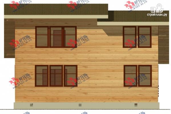 Фото 6: проект просторный дом из бруса с кабинетами на первом и втором этаже