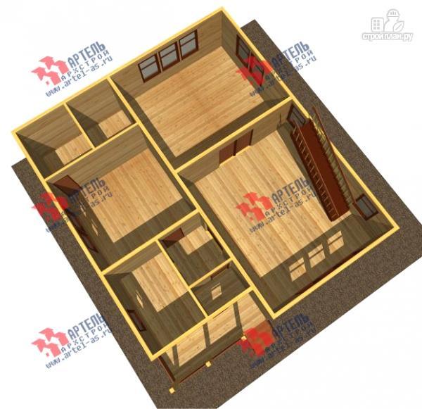 Фото 2: проект просторный дом из бруса с кабинетами на первом и втором этаже