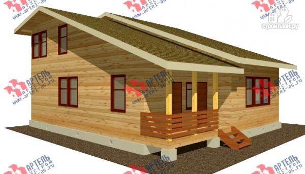Фото: проект просторный дом из бруса с кабинетами на первом и втором этаже