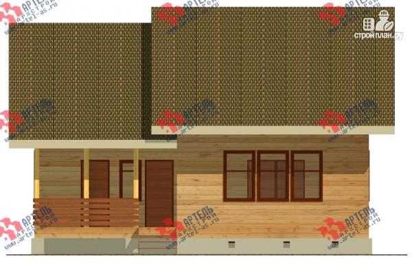 Фото 4: проект просторный дом из бруса с кабинетами на первом и втором этаже