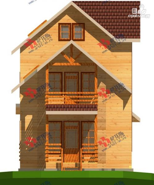 Фото 8: проект трёхэтажный брусовой дом, с парной