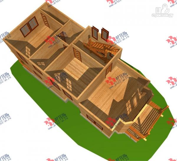 Фото 3: проект трёхэтажный брусовой дом, с парной