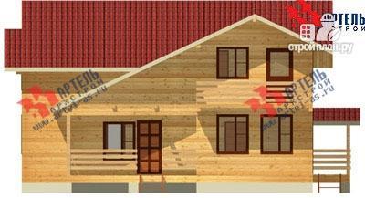 Фото 4: проект брусовой дом с террасой