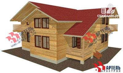 Фото: проект брусовой дом с террасой