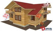 Проект брусовой дом с террасой