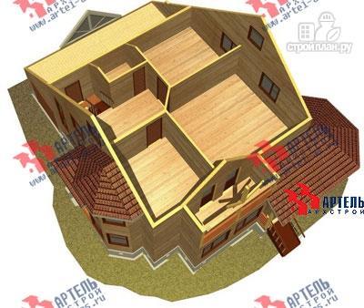 Фото 7: проект дом из бруса с верандой