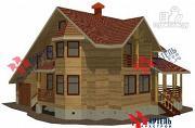 Проект дом из бруса с верандой