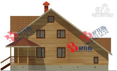 Фото 3: проект дом из бруса с верандой