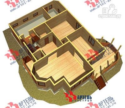 Фото 6: проект дом из бруса с верандой