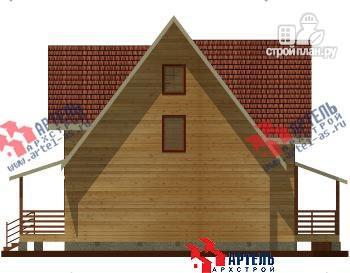 Фото 4: проект дом из бруса с террасой и тренажёрным залом