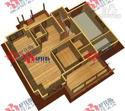 Фото 6: проект дом из бруса с террасой и тренажёрным залом