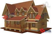 Проект дом из бруса с террасой и тренажёрным залом