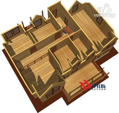 Фото 7: проект дом из бруса с террасой и тренажёрным залом