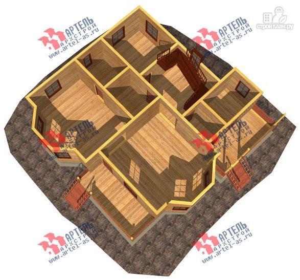 Фото 2: проект дом 13х13 из бруса