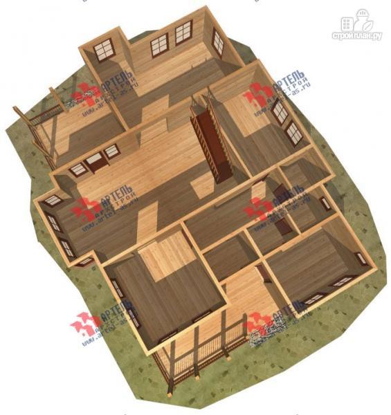 Фото 6: проект большой трёхэтажный дом из бруса