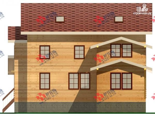Фото 8: проект трёхэтажный дом из бруса для большой семьи