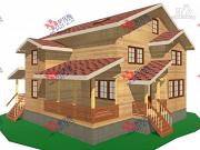 Проект трёхэтажный дом из бруса для большой семьи