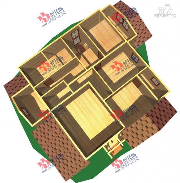 Фото 3: проект трёхэтажный дом из бруса для большой семьи