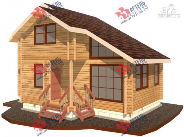 Дачный дом из бруса 6х8 эконом класса, проект, фото, цены