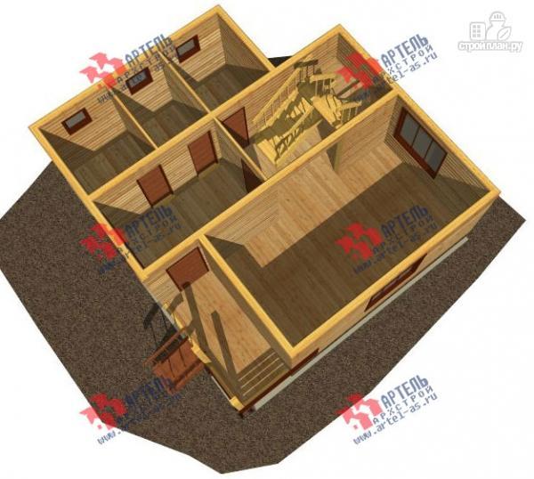 Фото 2: проект дом из профилированного бруса с крыльцом