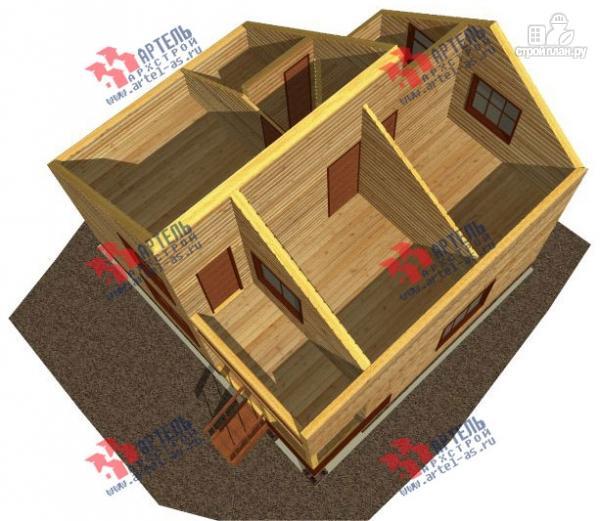 Фото 3: проект дом из профилированного бруса с крыльцом