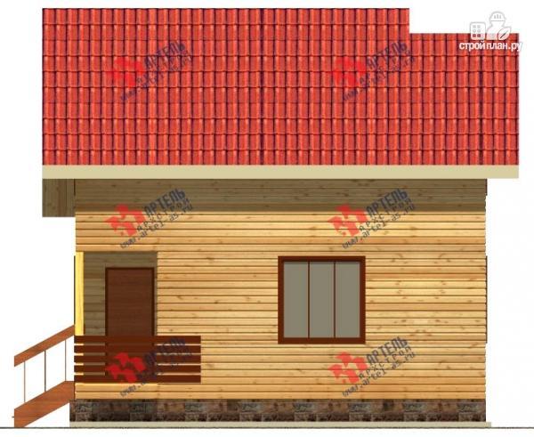 Фото 6: проект дом из профилированного бруса с крыльцом