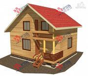 Фото: дом из профилированного бруса с крыльцом