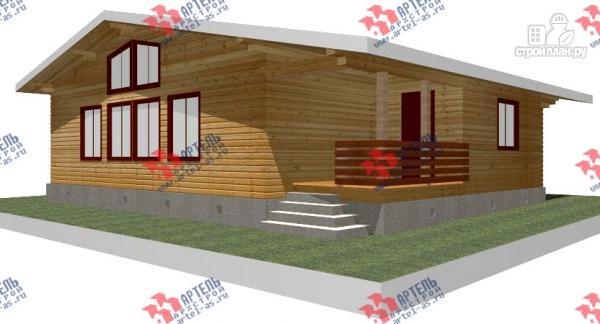Фото: проект одноэтажный дом из профилированного бруса