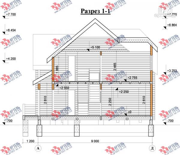 Фото 10: проект дом 8х9 из бруса