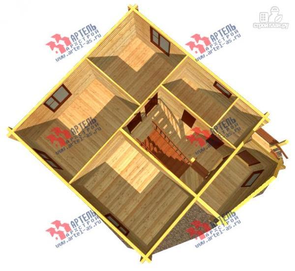 Фото 6: проект дом 8х8 из бруса