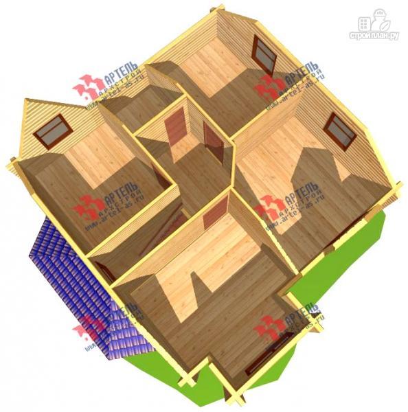 Фото 7: проект дом 8х8 из бруса