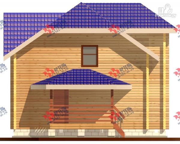 Фото 5: проект дом 8х8 из бруса