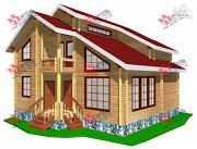 Проект дом из бруса, с сауной