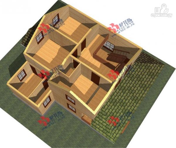 Фото 3: проект брусовой дом с террасой