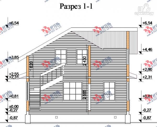 Фото 10: проект брусовой дом с террасой