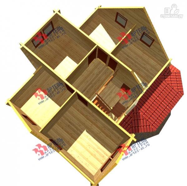 Фото 7: проект дом 8х10 из бруса с крыльцом-террасой
