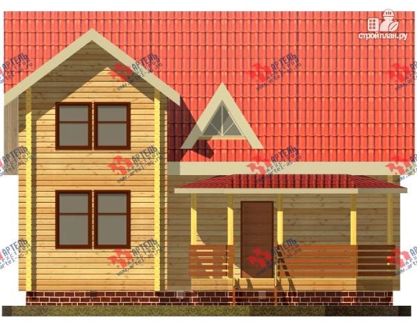 Фото 5: проект дом 8х10 из бруса с крыльцом-террасой