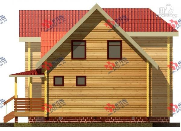 Фото 2: проект дом 8х10 из бруса с крыльцом-террасой